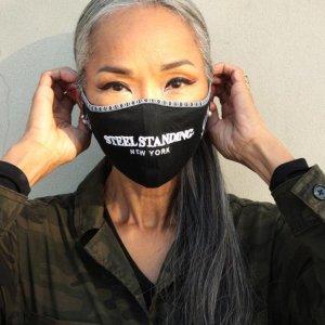 Mask Steel Standing NY Black